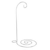 "9"" Silver Spiral Ornament StandLet this 9"" silver spiral metal ornament stand proudly display your favorite Christmas ornament with a hanging height of 6""."