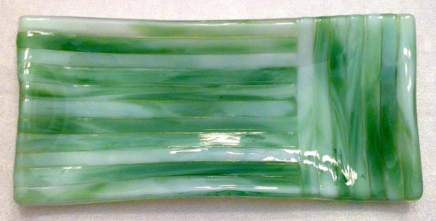 Spoonrest or Glasses Holder: Streaky Light Green, $10