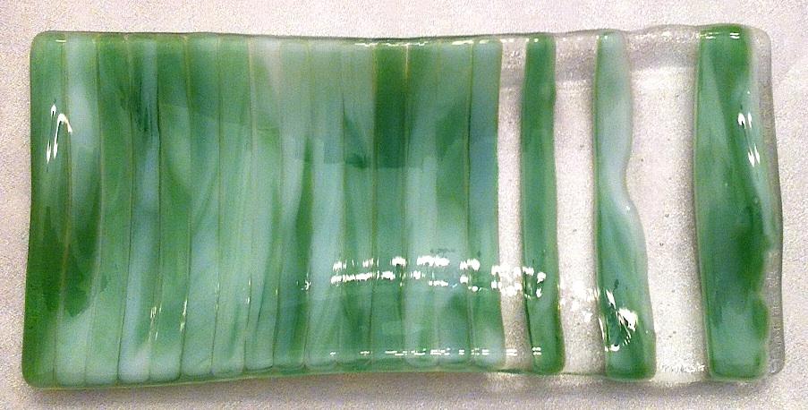 """Spoonrest or Eye Glasses Holder: Streaky Light Green 2 (approx. 3.75"""" x 8""""), $10"""