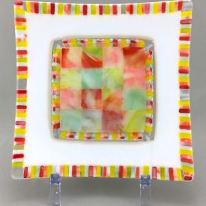 Kaleidoscope-9.75x9.75x1.25-Fused Flow Glass-125